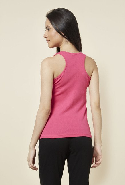 Zudio Pink Solid Racerback Top