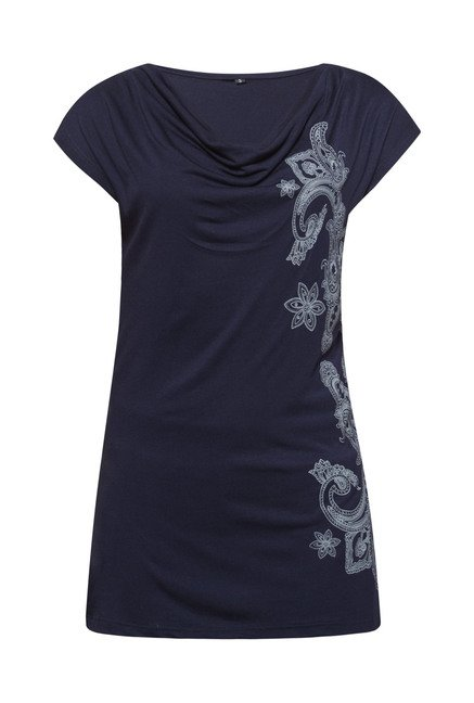 Zudio Navy Prime Printed Top