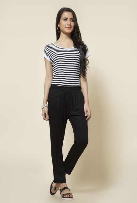 Zudio Black Solid Pant