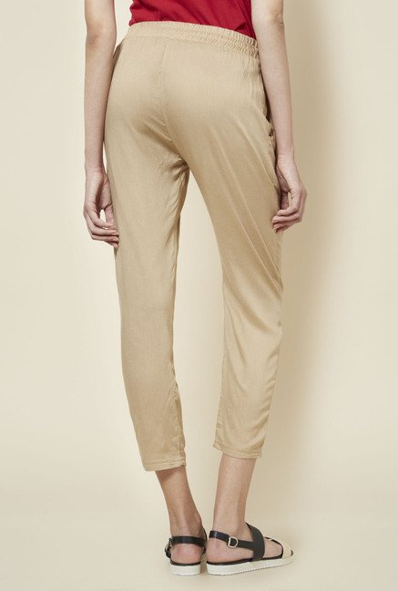 Zudio Taupe Solid Pant