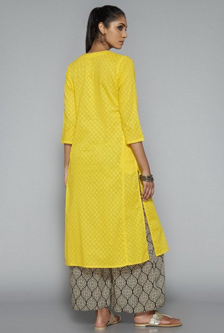 Utsa Yellow Printed Kurta