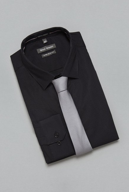 Weststreet Black Solid Shirt