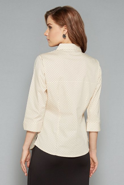Wardrobe Beige Printed Lucy Blouse