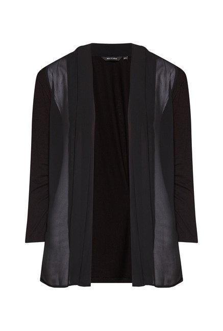Wardrobe Black Solid Ria Shrug