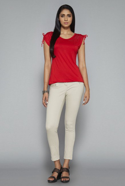 LOV Red Solid Top