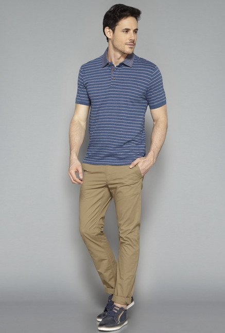 Westsport Mens Brown Solid Chinos
