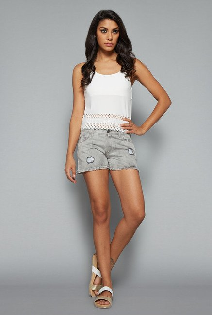 Nuon by Westside Grey Stretch Shorts