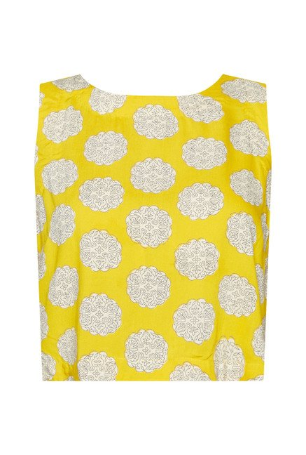 Bombay Paisley Yellow Printed Top