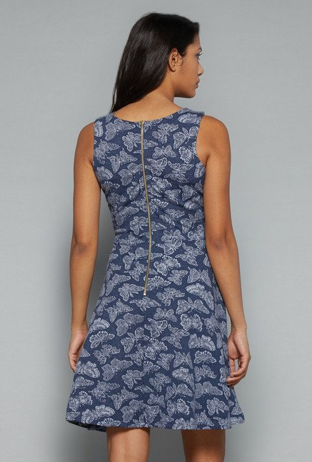 Nuon Blue Printed Dress