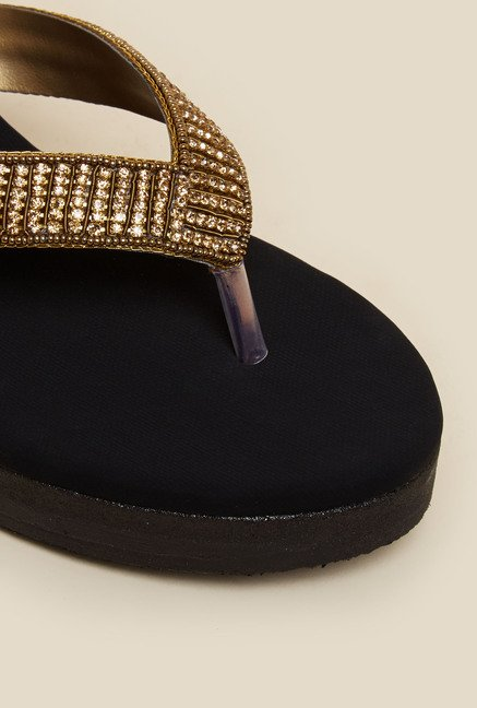 Metro Black & Antique Gold Wedges