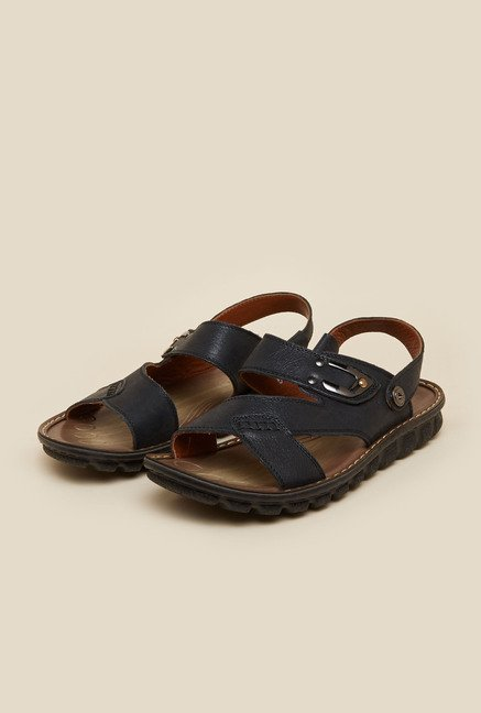 J. Fontini by Mochi Black Back Strap Sandals