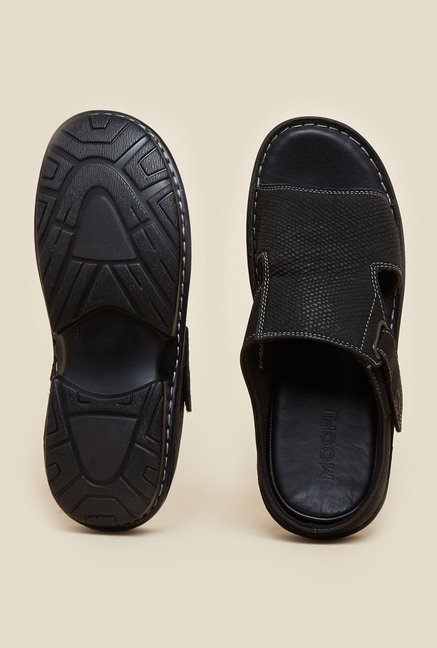 Mochi Black Mule Casual Sandals
