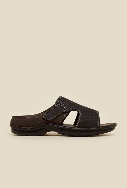 Mochi Brown Mule Casual Sandals