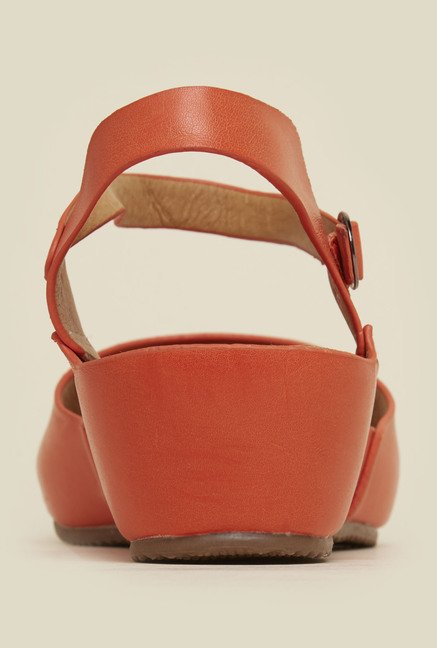 Mochi Orange Back Strap Wedges