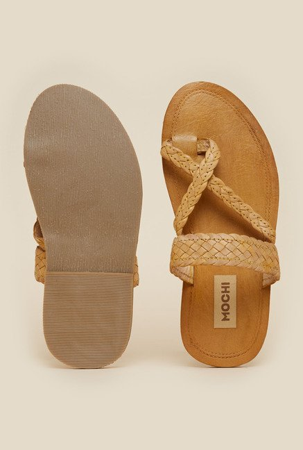 Mochi Tan Leather Casual Sandals