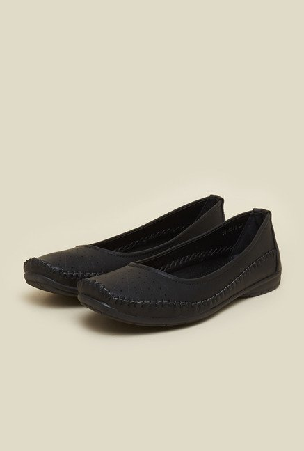 Mochi Black Ballet Flat Shoes