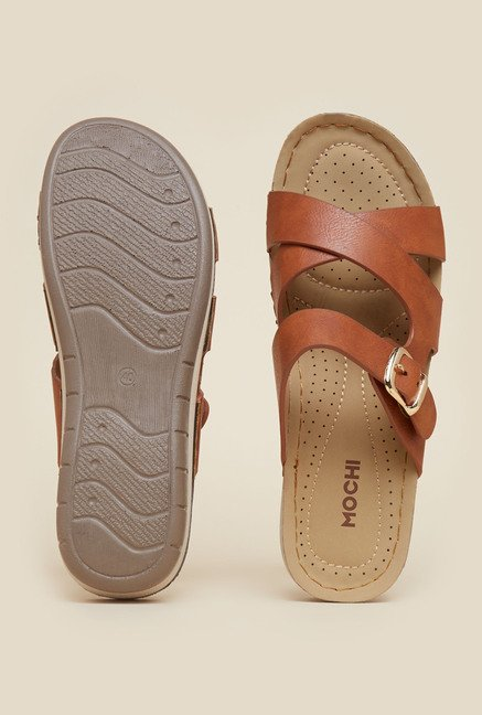 Mochi Tan Casual Sandals