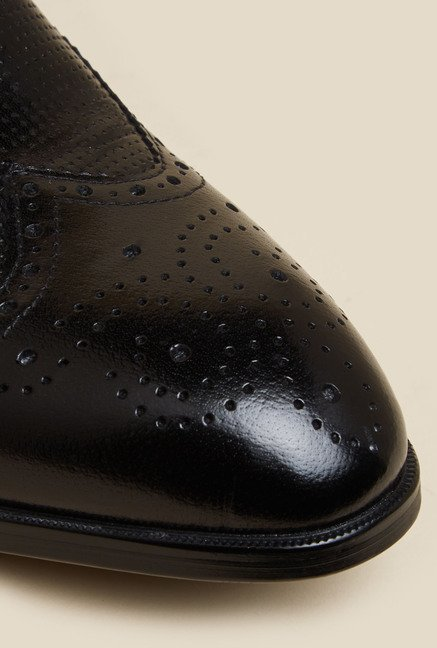 J. Fontini by Mochi Black Leather Derby Shoes