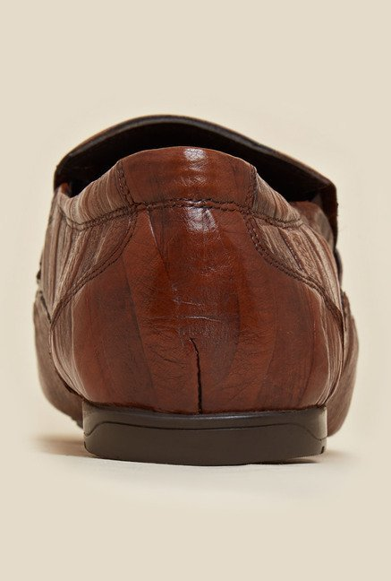 J. Fontini by Mochi Walnut Brown Leather Shoes