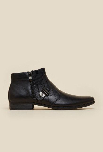J. Fontini by Mochi Black Leather Boots
