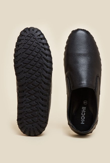 Gen X by Mochi Black Leather Casual Shoes