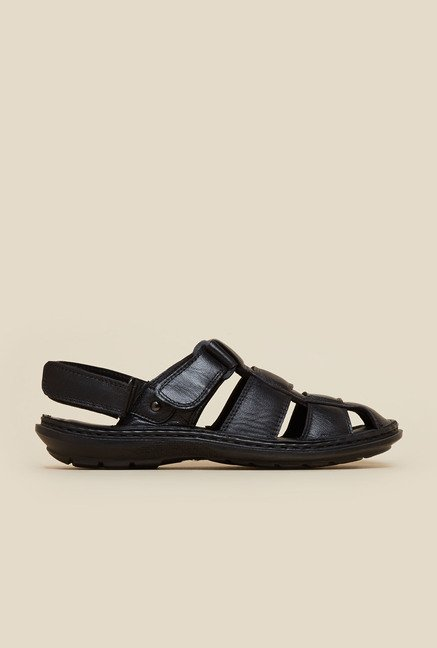 Mochi Black Fisherman Sandals