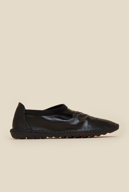 Mochi Black Leather Loafers