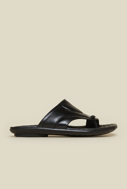 Mochi Black Leather Sandals
