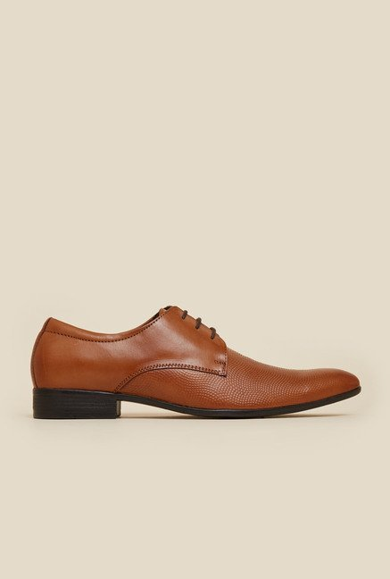 Mochi Tan Leather Derby Shoes