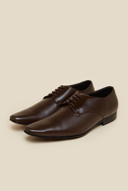 Mochi Brown Leather Derby Shoes