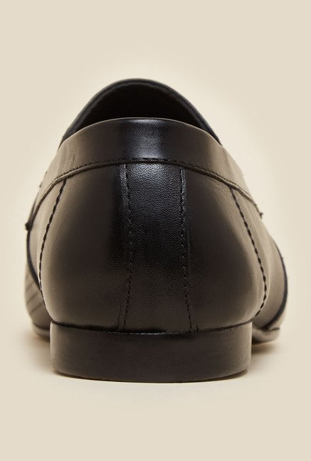 Mochi Black Leather Horsebit Loafers