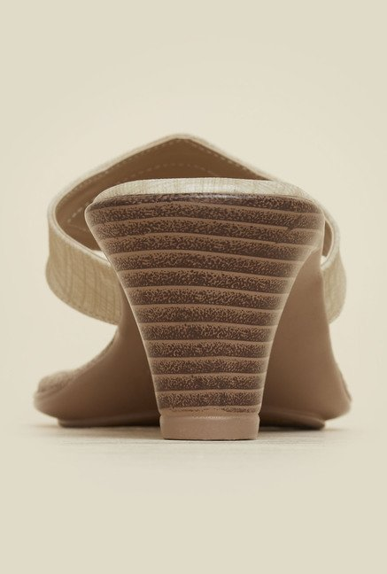 Mochi Beige Block Heeled Sandals