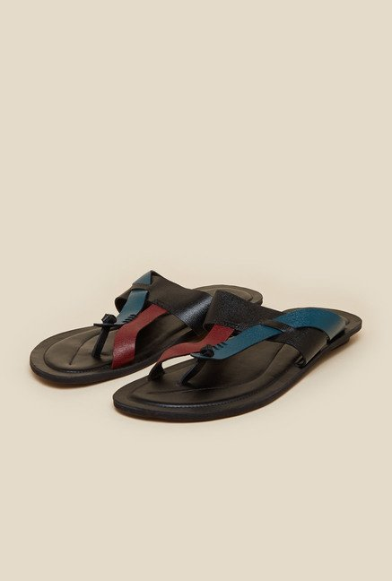 Mochi Black Casual Sandals