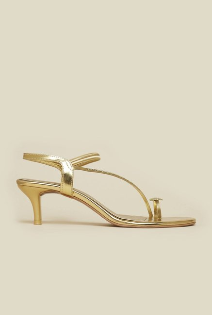 Mochi Gold Diamond Embossed Stilettos