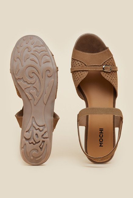 Mochi Brown Back Strap Sandals