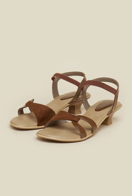 Mochi Tan Back Strap Kitten Sandals