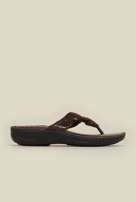Mochi Brown Leather Flat Sandals