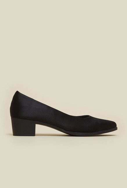 Mochi Black Block Heel Formal Shoes