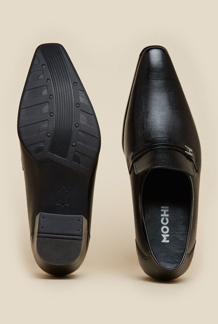 Mochi Black Formal Shoes