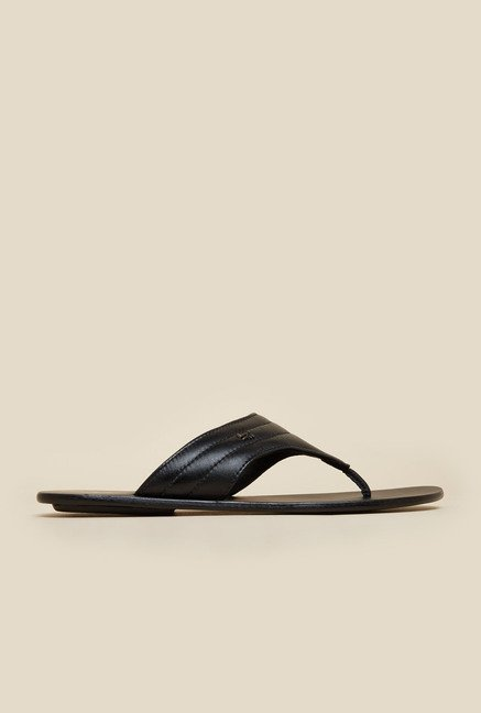 Signature by Mochi Black Leather Sandals