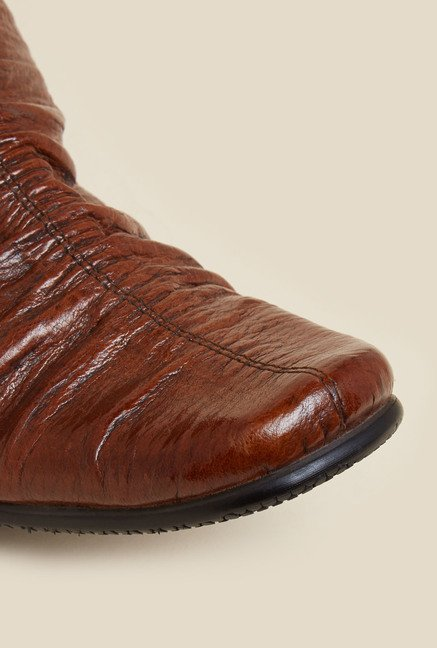 J. Fontini by Mochi Brown Leather Formal Shoes
