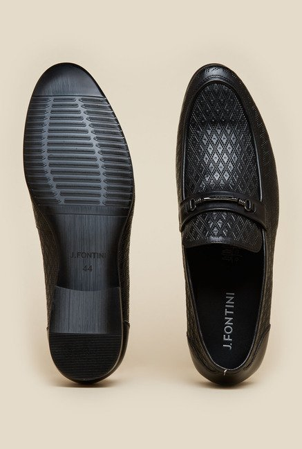J. Fontini by Mochi Black Leather Shoes