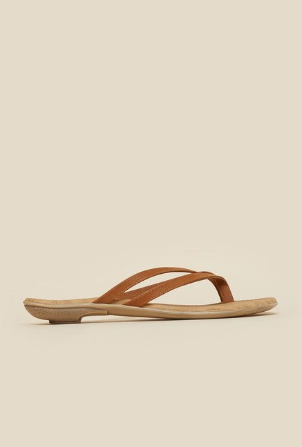 Mochi Brown Thong Sandals