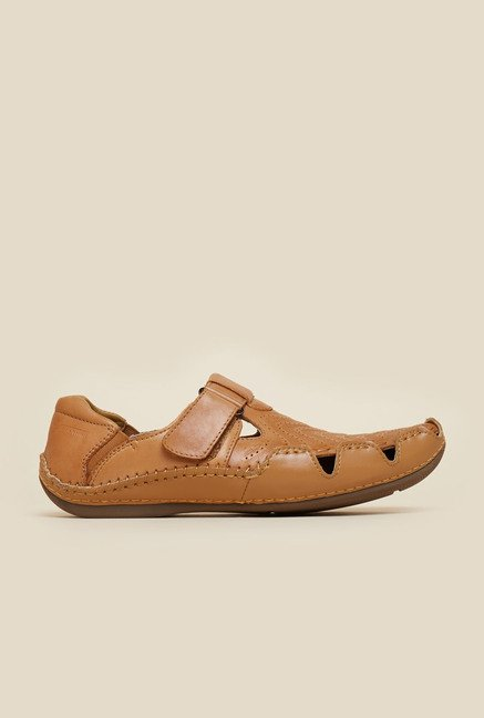 J. Fontini by Mochi Tan Fisherman Sandals