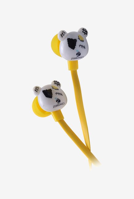 Zebronics Funky Bear In The Ear Headphones Yellow
