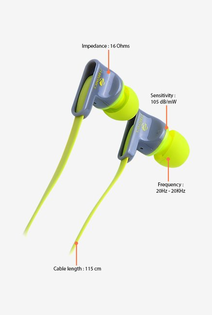 Zebronics EM 950 In The Ear Headphones Green