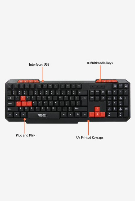 Zebronics Axis-ii, Km2000 Keyboard (Black)