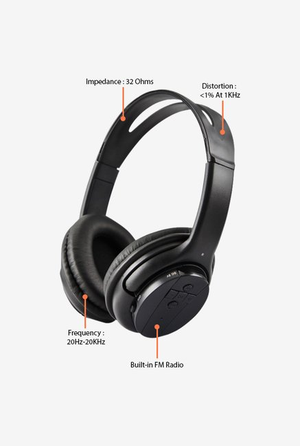Zebronics Airwalk2 Over The Ear Headsets Black