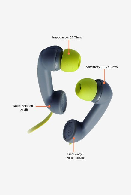 Zebronics Tunes In The Ear Headphones Grey