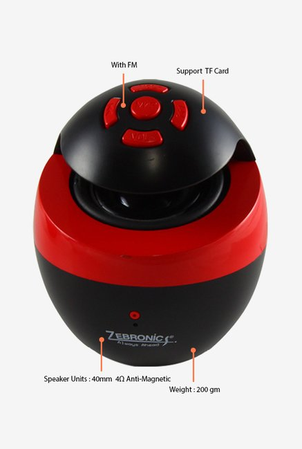 Zebronics Kettle Bluetooth Speaker Black & Red